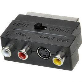 OEM scart - 3x cinch + S-video, přepínatelné IN/OUT