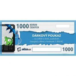 Elektronický dárkový poukaz Alza.cz na nákup e-knih, audioknih, časopisů a filmů v hodnotě 1000 Kč
