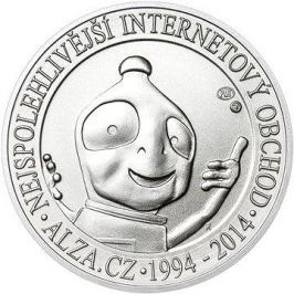 ALZA pamětní stříbrňák 20 let Alza.cz 1 OZ, hmotnost 31.1g