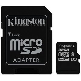 Kingston Canvas Select MicroSDHC 32GB UHS-I U1 + SD adaptér
