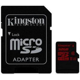 Kingston MicroSDHC 32GB UHS-I U3 + SD adaptér