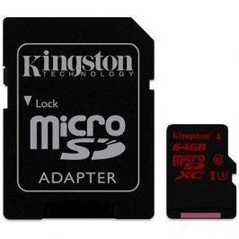 Kingston MicroSDXC 64GB UHS-I U3 + SD adaptér