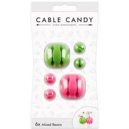 Cable Candy Mixed Beans 6 ks zelený a růžový