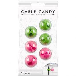Cable Candy Beans 6 ks zelený a růžový