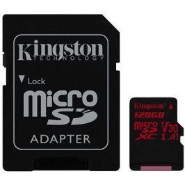 Kingston Canvas React MicroSDXC 128GB A1 UHS-I V30 + SD adaptér