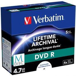 VERBATIM M-DISC DVD R 4X 4,7GB Inkjet Printable 5pck/BAL