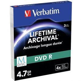 VERBATIM M-DISC DVD-R 4X 4,7GB MATT SILVER SLIM 3pck/BAL