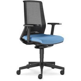LD Seating Look černo/modrá Kancelářské židle