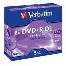 Verbatim DVD+R 8x, Dual Layer 5ks v krabičce