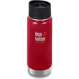 Klean Kanteen Insulated Wide w/Café Cap 2.0 - mineral red 473 ml