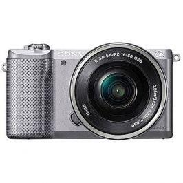 Sony Alpha A5000 stříbrný + objektiv 16-50mm