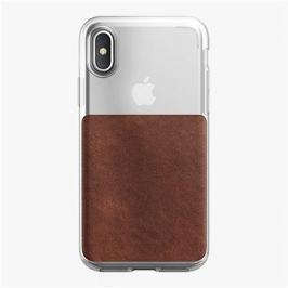 Nomad Clear Case Rustic Brown iPhone X