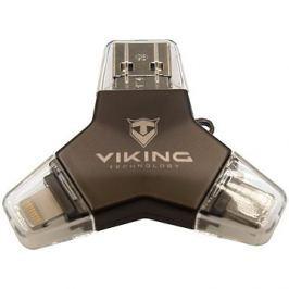Viking USB Flash disk 3.0 4v1 128GB černá