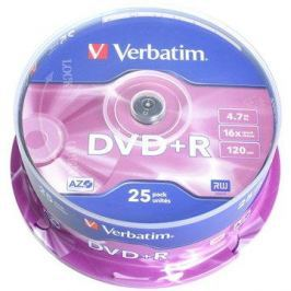 Verbatim DVD+R 16x, 25ks cakebox