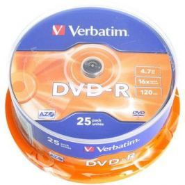 Verbatim DVD-R 16x, 25ks cakebox DVD-R