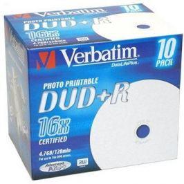 Verbatim DVD+R 16x, Printable 10ks v krabičce