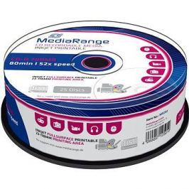MediaRange CD-R Inkjet Fullsurface Printable 25ks cakebox CD-R