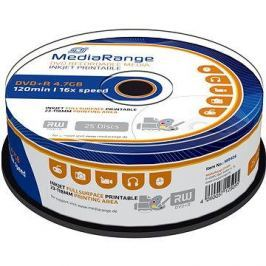 MediaRange DVD+R Inkjet Fullsurface Printable 25ks cakebox