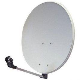 TeleSystem satelitní hliníková parabola 65x55cm Paraboly