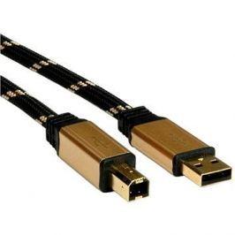 ROLINE Gold USB 2.0 A-B, 1.8m - černo/zlatý