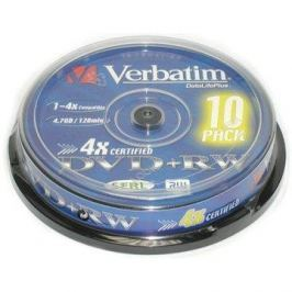 Verbatim DVD+RW 4x, 10ks cakebox
