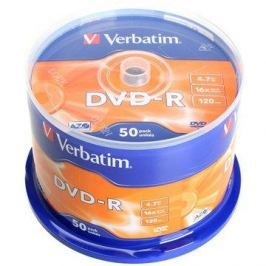 Verbatim DVD-R 16x, 50ks cakebox