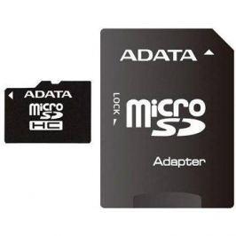 ADATA Micro SDHC 4GB Class 4 + SD adaptér Paměťové karty