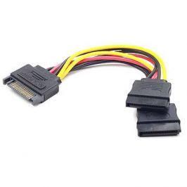 Gembird Cableexpert SATA napájecí na 2x SATA, rozdvojka, 0.15m
