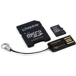 Kingston Micro SDHC 16GB Class 4 + SD adaptér a USB čtečka