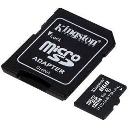 Kingston MicroSDHC 8GB Class 10 UHS-I Industrial Temp + SD adaptér