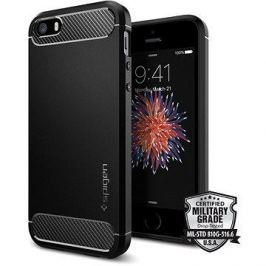 SPIGEN Rugged Armor Black iPhone SE/5s/5