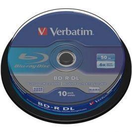 Verbatim BD-R 50GB Dual Layer 6x, 10ks cakebox BD-R Dual Layer