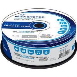 MediaRange BD-R (HTL) 25GB, Inkjet Printable, 25ks cakebox