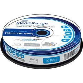 MediaRange BD-R (HTL) 50GB Dual Layer Printable 10ks cakebox