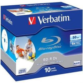 Verbatim BD-R 50GB Dual Layer Printable 6x, 10ks v krabičce