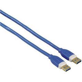Hama propojovací USB 3.0 A-A, 1.8m, modrý