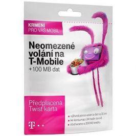 Předplacená karta s neomezeným voláním na T-Mobile a 100MB dat