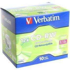 Verbatim CD-RW 12x, 10ks v krabičce  CD-RW