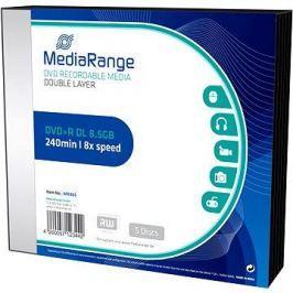MediaRange DVD+R Double Layer 5ks v SLIM krabičce