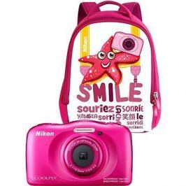 Nikon COOLPIX W100 růžový backpack kit
