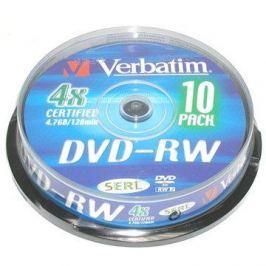 Verbatim DVD-RW 4x, 10ks cakebox DVD-RW