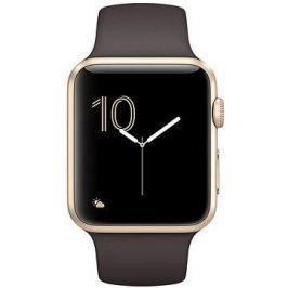 Apple Watch Series 1 42mm Zlatý hliník s kakaově hnědým sportovním řemínkem