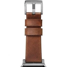 Nomad Horween Leather Strap Modern Silver