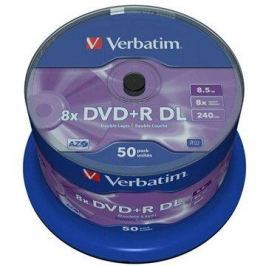 Verbatim DVD+R 8x, Dual Layer 50ks cakebox