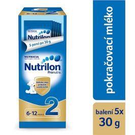 Nutrilon 2 Pronutra pokračovací mléko 5× 30 g, 6+ zkušební a cestovní balení