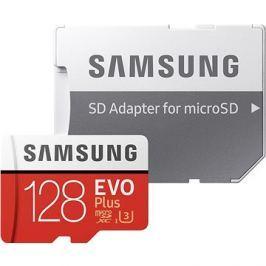 Samsung MicroSDXC 128GB EVO Plus UHS-I U3 + SD adaptér