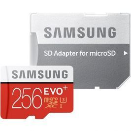 Samsung MicroSDXC 256GB EVO Plus UHS-I U3 + SD adaptér