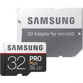 Samsung MicroSDHC 32GB PRO Plus UHS-I U3 + SD adaptér