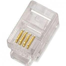 100-pack,Datacom, RJ10, CAT3, UTP, 4p4c, nestíněný, skládaný, na licnu (lanko)