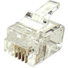 100-pack,Datacom, RJ11, CAT3, UTP, 6p4c, nestíněný, skládaný, na licnu (lanko)